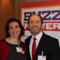 Angie (presenter) and Anthony (speaker) at BuzzPower.