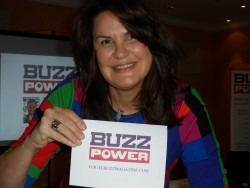 Jackie Osborne at the launch event of BuzzPower in Thatcham and Newbury.